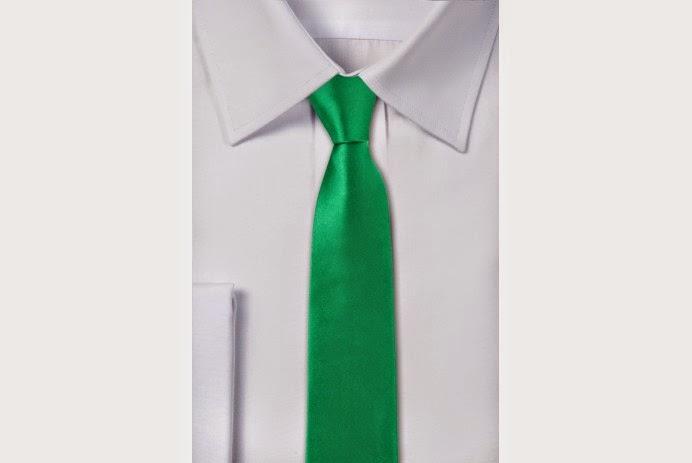 Krawat w kolorze zielonym - pewienpan.pl
