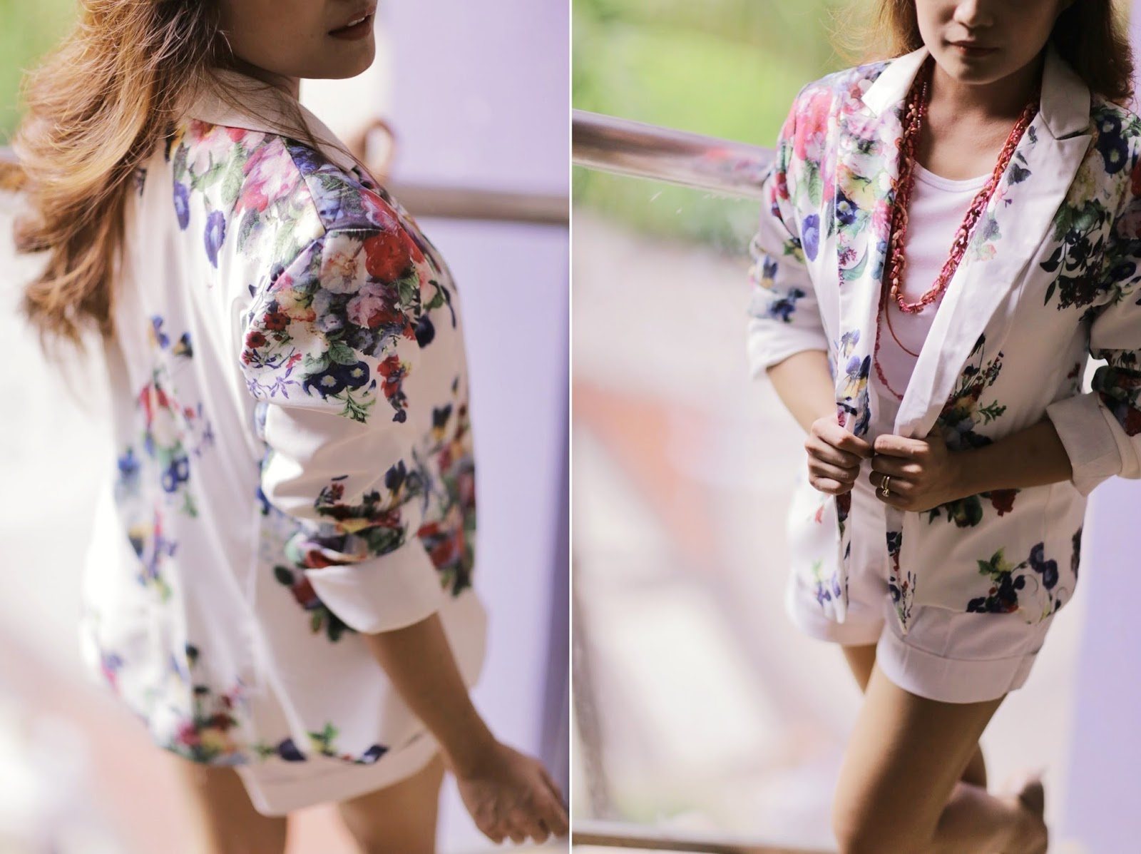 floral, blazer, summer trends, all white outfit