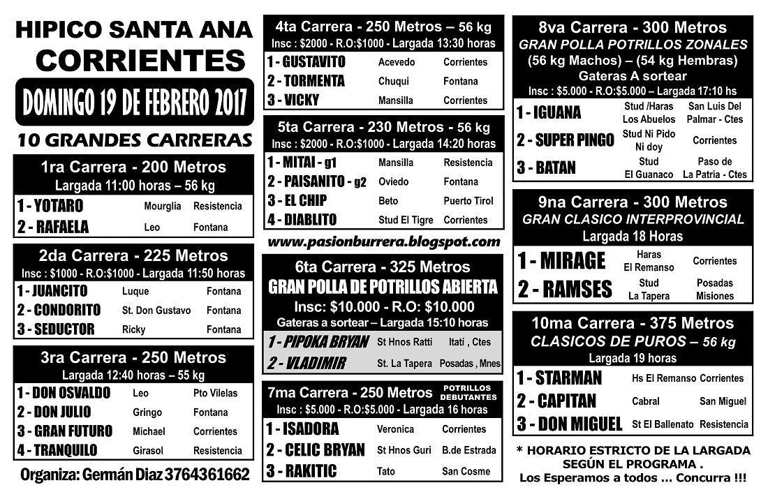 SANTA ANA 19 - PROGRAMA