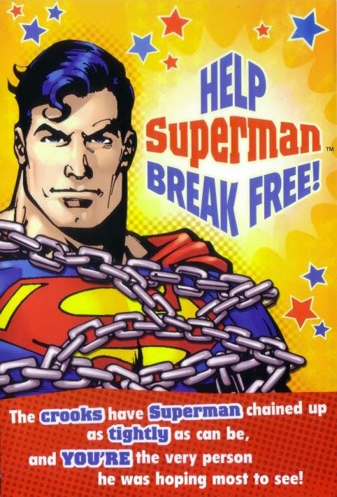 Moongem Comics Superman Chained Birthday Card 2014