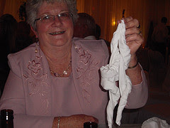 Reba's chicken napkin trick
