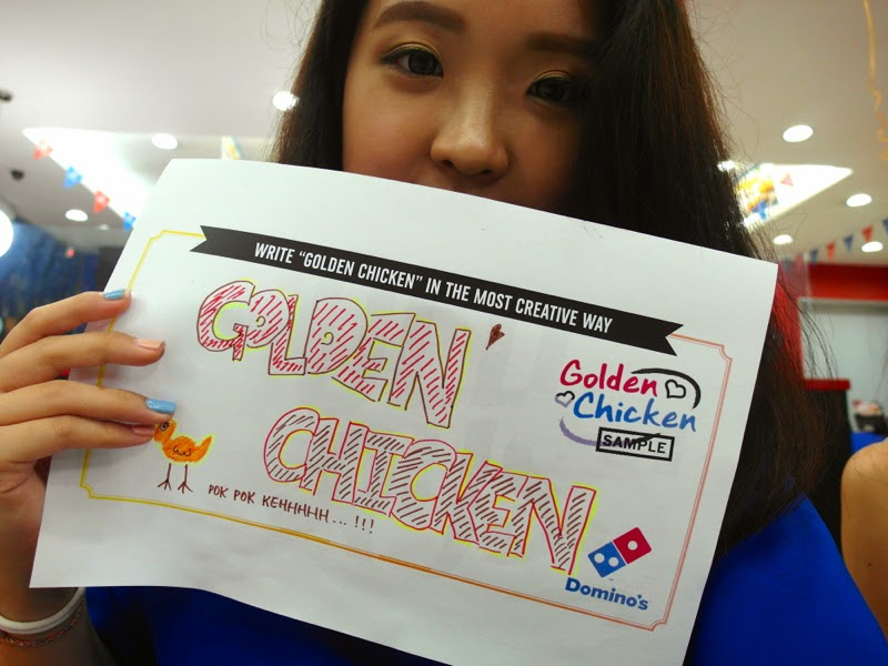 Domino's Pizza Golden Chicken Gold Rush Contest