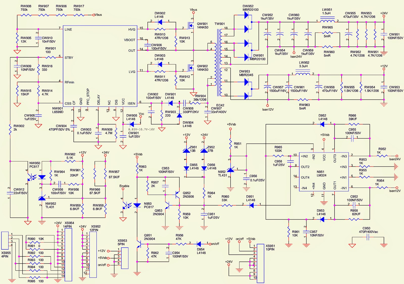 POWER.bmp lc4245w toshiba lcd tv power supply schematic [circuit diagram toshiba motor wiring diagram at mifinder.co