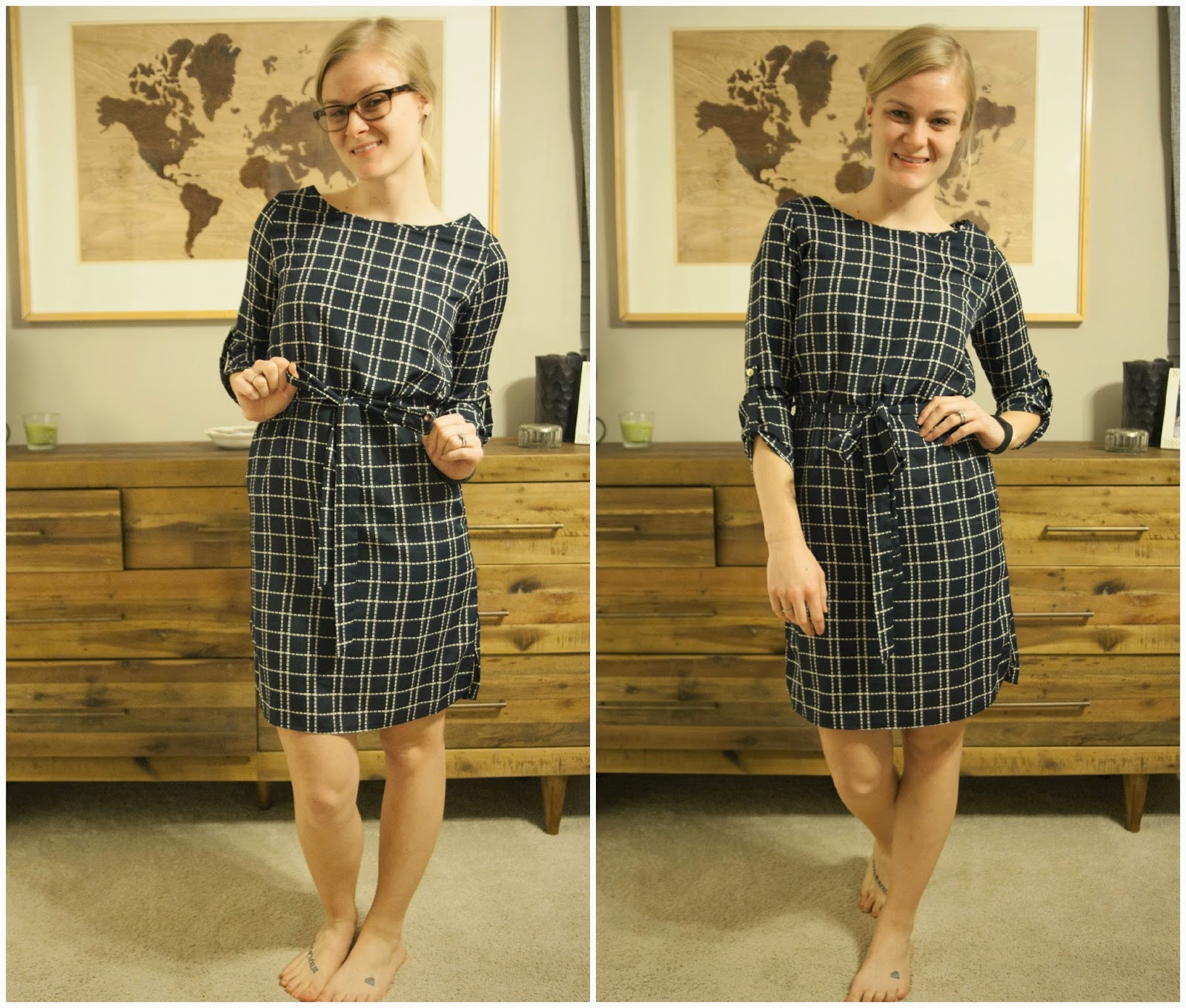 Stitch Fix Kendal Geometric Print Shift Dress