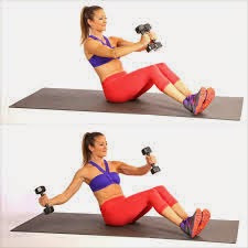 V Sit With Single Arm Chest Fly Abs Workout