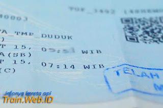 Mulai 13 Oktober 2015 Tiket KA Lokal Daop 8 di Ganti Tiket Thermal