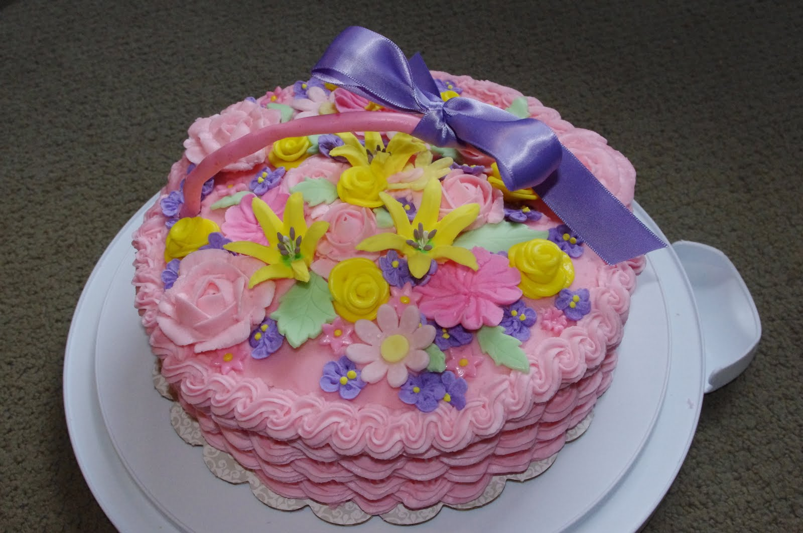 How To Make A Basket Of Flowers Cake : Goodness bake flower basket cake