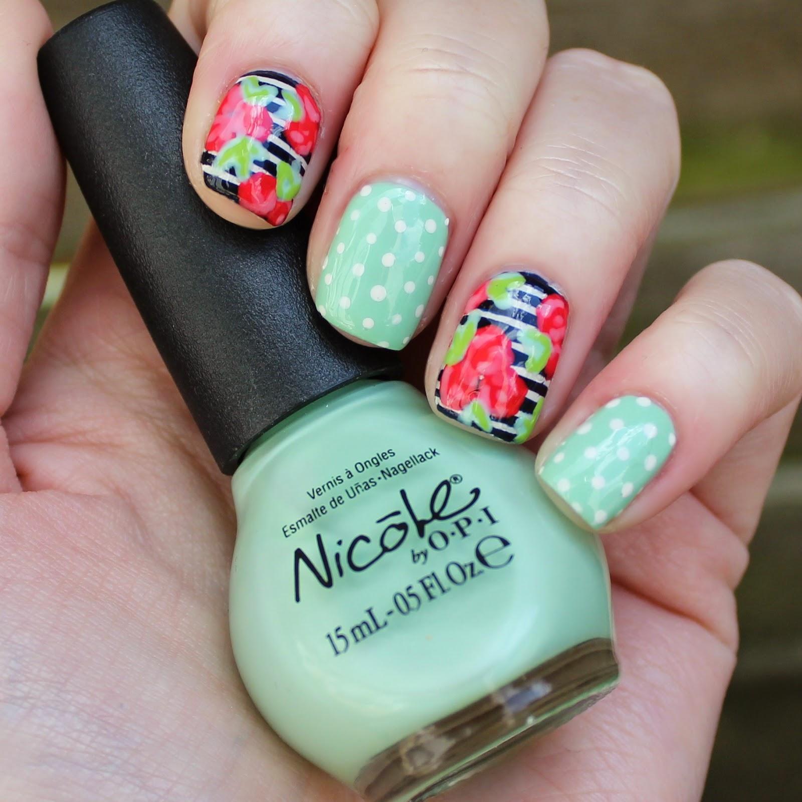 Dahlia Nails Spots Stripes And Florals