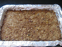 Granola bars baked ready to cut into bars