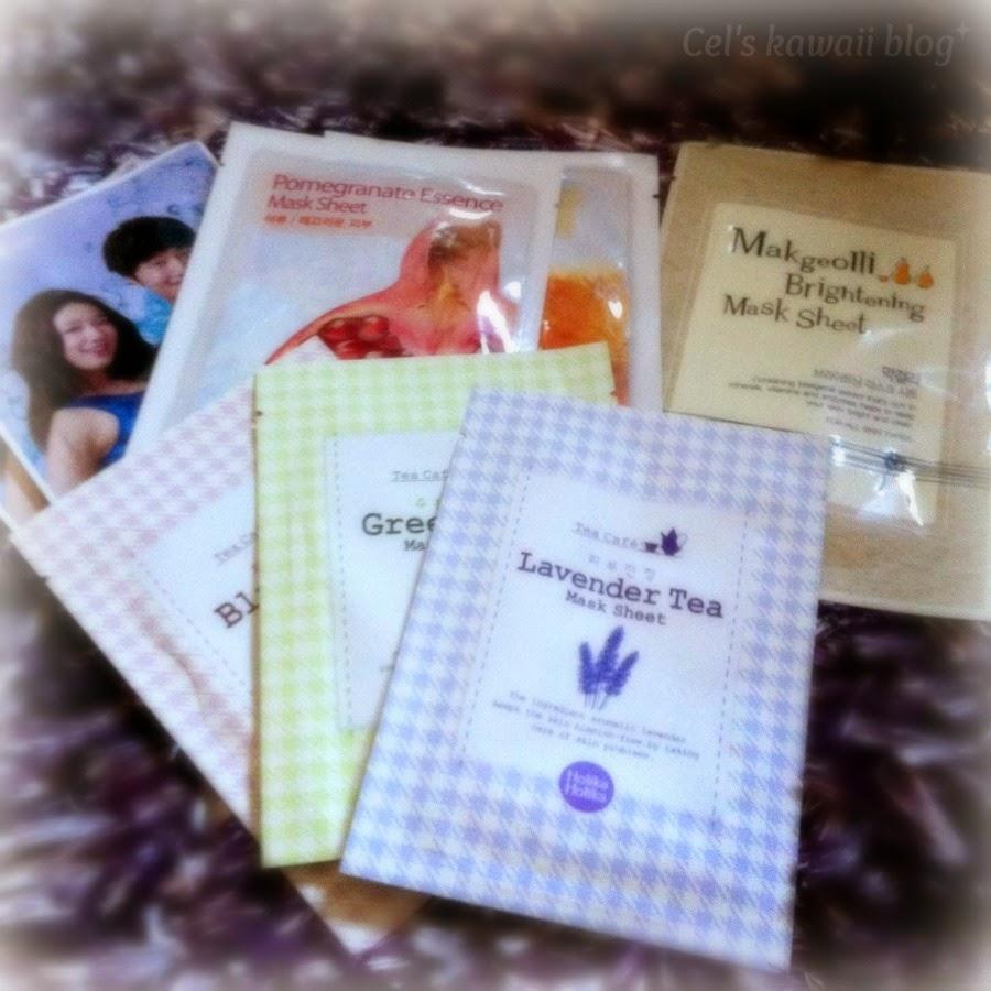 Korean beauty sheet masks