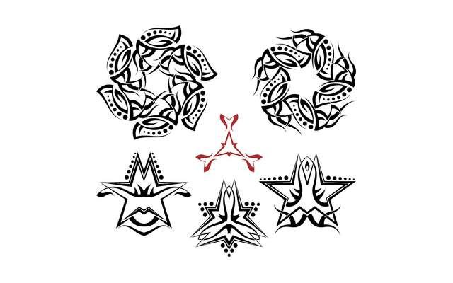 6 Point Star Tattoo Designs