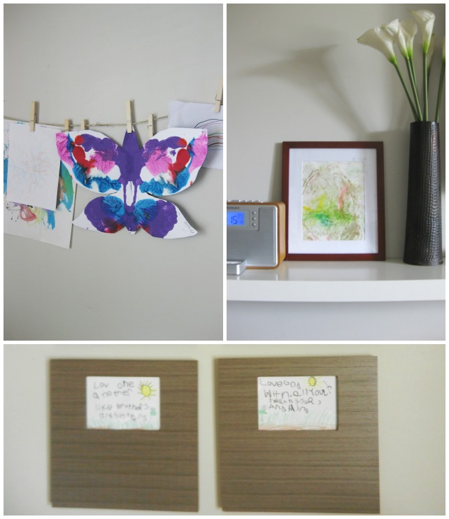 small spaces with kids: decorating home with their artwork