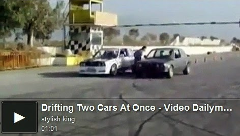 http://funchoice.org/video-collection/drifting-two-cars-at-once