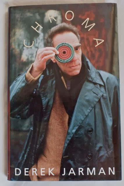Derek Jarman on the cover of one his last books, Chroma, a series of essays about colour .