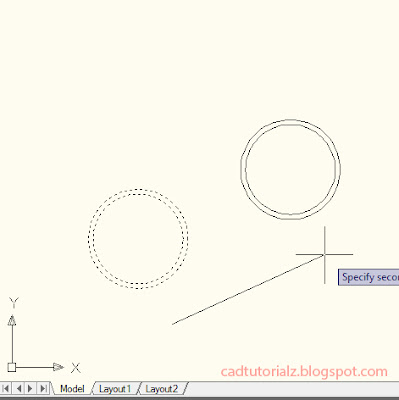Command move autocad - hasil pergeseran