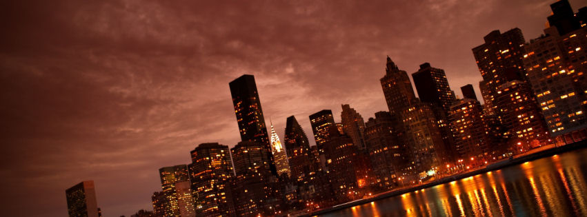 Manhattan nyc reflections facebook cover