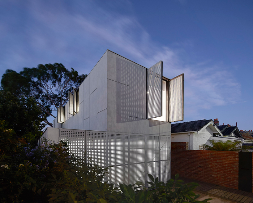 House in Melbourne with perforated shutters