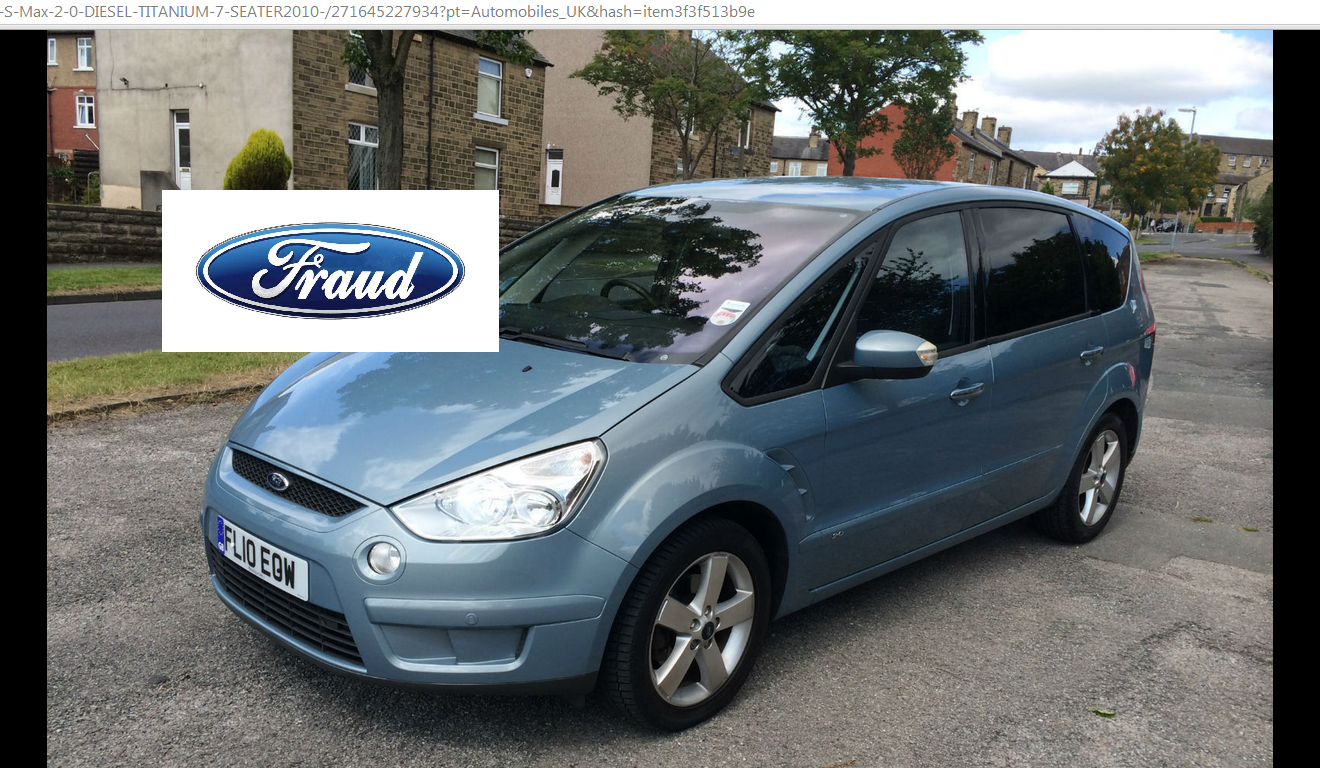 scam ford s max 2 0 diesel titanium 7 seater 2010 fl10eow ebay car fraud fl10 eow. Black Bedroom Furniture Sets. Home Design Ideas