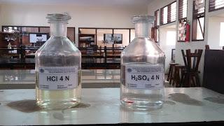 Penetapan Normalitas (Standarisasi) HCl 0,05 N Dengan BBP Soda Kering (Na2CO3)