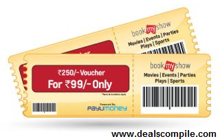 Get Rs.250 BookMyShow voucher from shopclues.com at just Rs.99 .