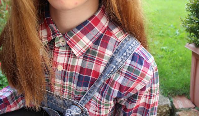 How I Style | Dungarees shirt checks primark unique