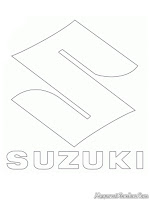 Suzuki Car Logo Coloring Pages