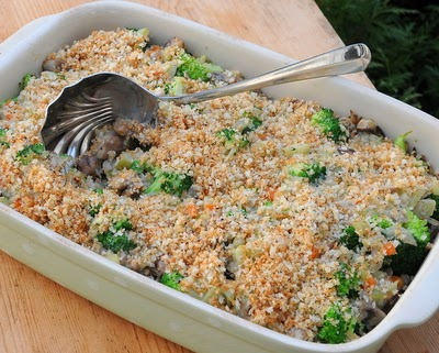 Pioneer Woman's Broccoli Wild Rice Casserole from A Veggie Venture.
