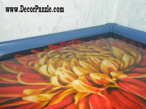 3d floor art and self-leveling floor, flooring ideas flower pattern