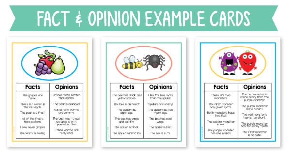 Fact opinion worksheet pdf
