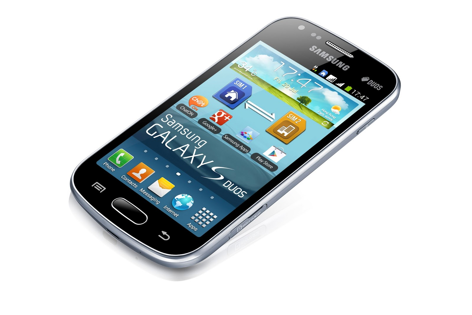 It uses Android OS, version 4.0.(Ice Cream Sandwich) and s upports SMS ...