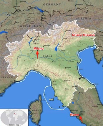 Italy Milan Mission Boundaries
