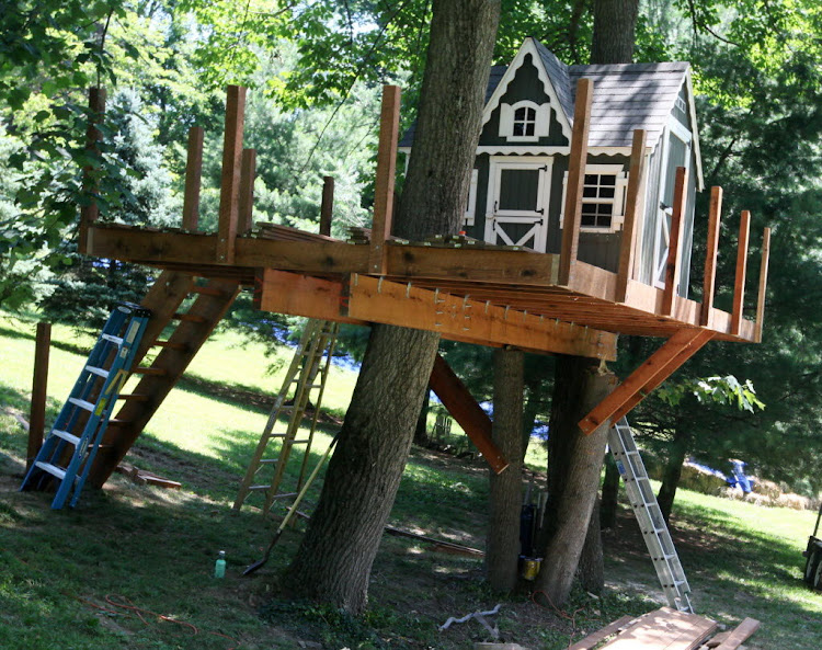 100 tree house design ideas alexander gruenewald for Tree house ideas plans