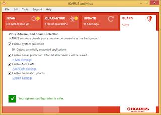 Ikarus Antivirus gratis hispasoftware
