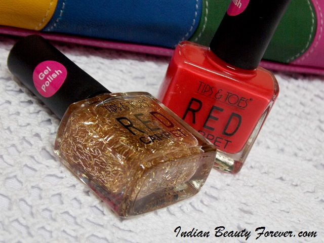 Tips and Toes Red Carpet Gel Nail Polish Review - Indian Beauty Forever