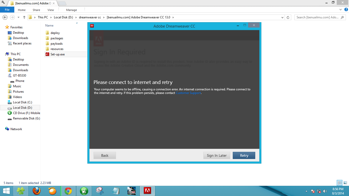 Instal aplikasi edit html