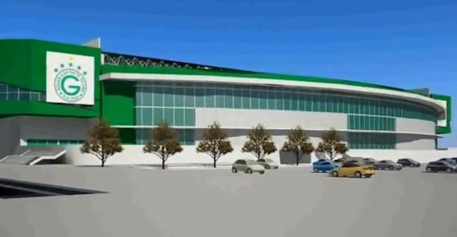 Fachada da Nova Arena do Goiás