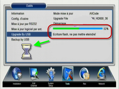 Mettre à jour et d'activer de l'abonnement CCcam pour le nouveau Récepteur vision 600 HD