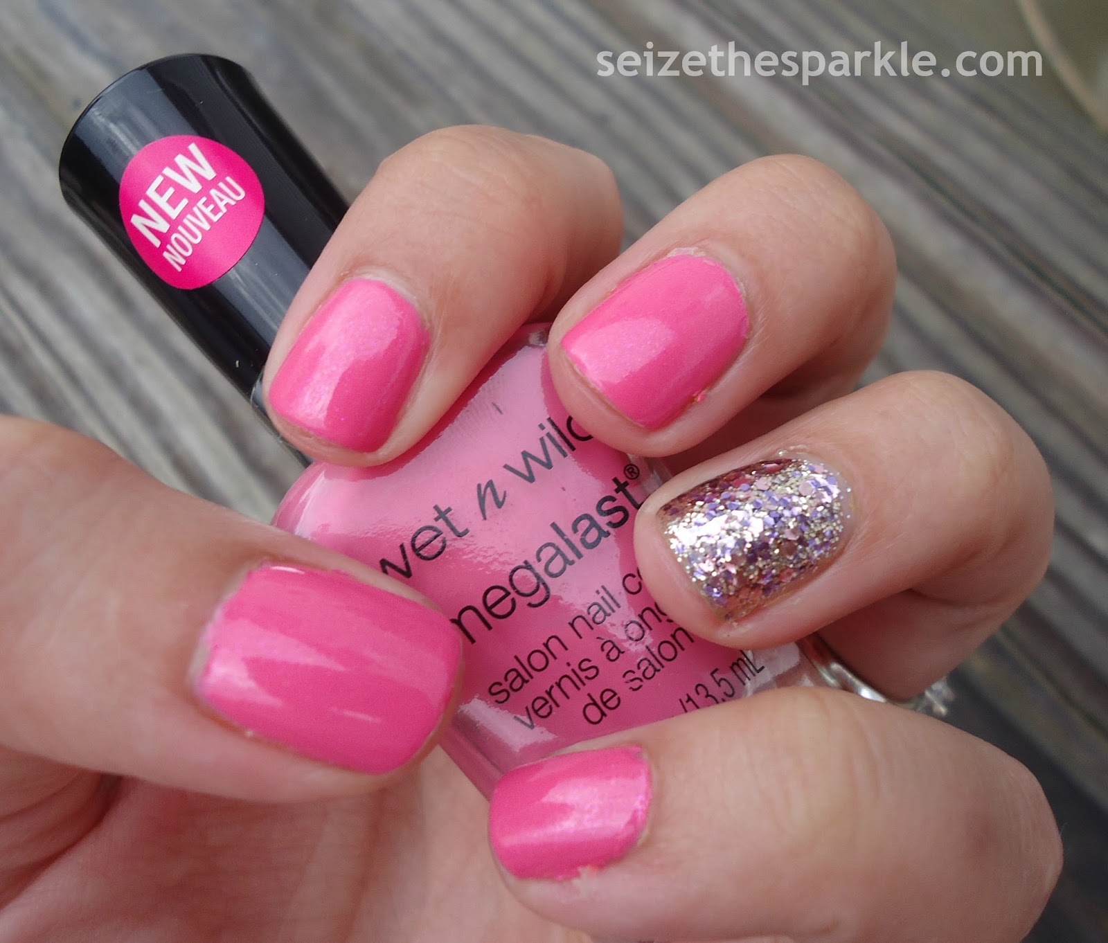Layering Sweet Candy Sparkles Seize The Sparkle Wet N Wild Megalast Salon Nail Color Candylicious With Polishes Used