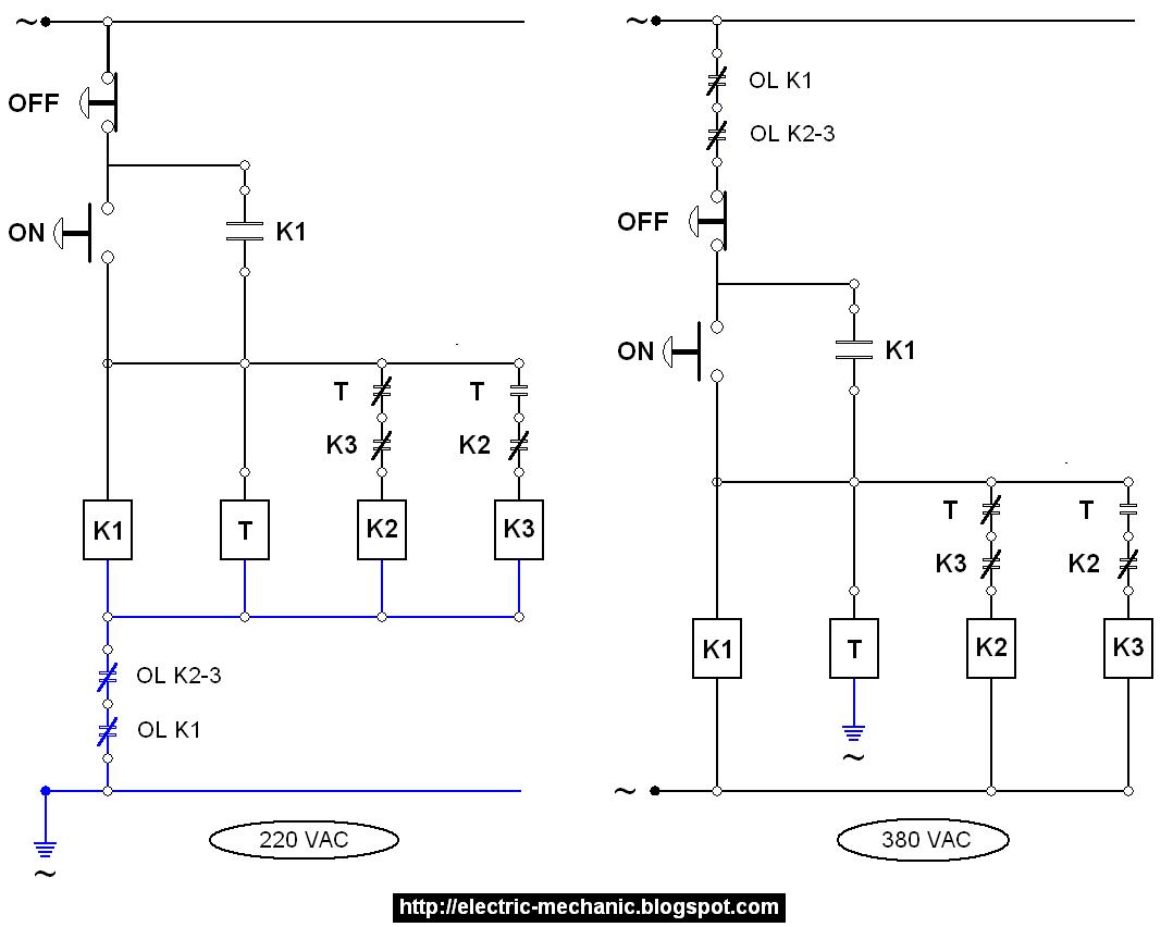 Wiring diagram start delta wiring diagram star delta overload di pasang pada input koil dari kontaktor masing masing atau bisa juga pada input utama rangkaiannya maka didapat gambar seperti dibawah ini ccuart Gallery