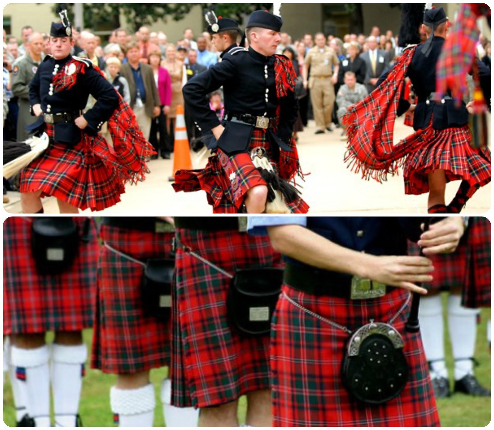 Escoceses con kilt escocés - Tartán escocés