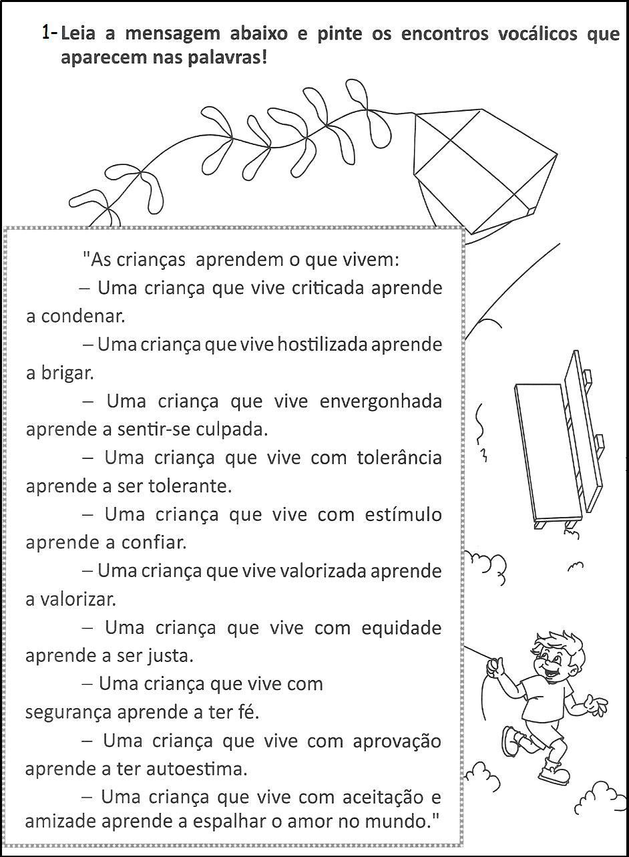 ATIVIDADES ENCONTROS CONSONANTAIS
