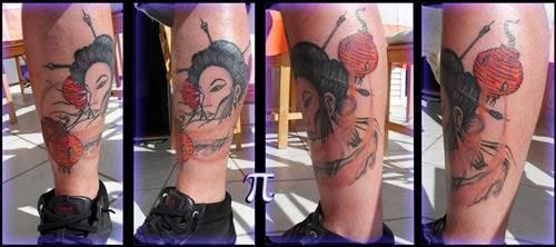 Tatuagem masculina Gueixa