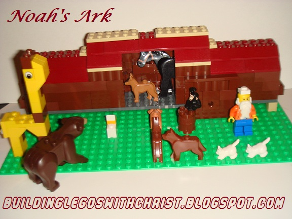Building LEGOS with Christ, Noah's Ark LEGO Creation, Biblical LEGO Creations
