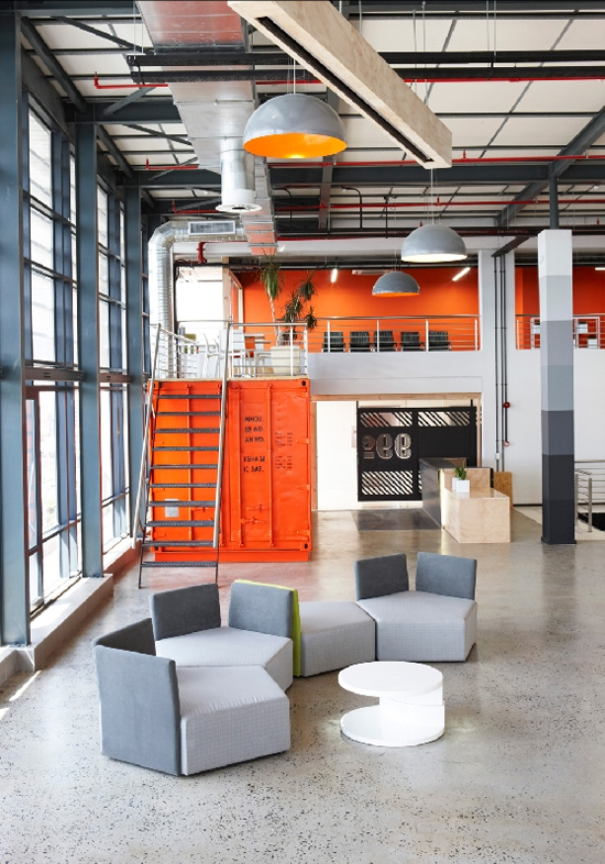 Safari Fusion blog | Ship it [part 2] | industrial interiors of advertising agency 99c on Cape Town's foreshore