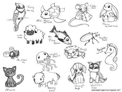 Cute Chibi Animal Drawings