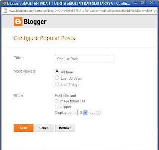 Edit Popular Post Bawaan Blogger Biar Menarik