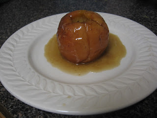Baked Apples with Chai-Spiced Maple Syrup