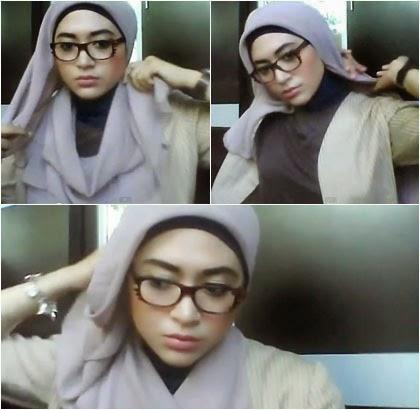 Kreasi Simple Jilbab Paris untuk Wanita Berkacamata