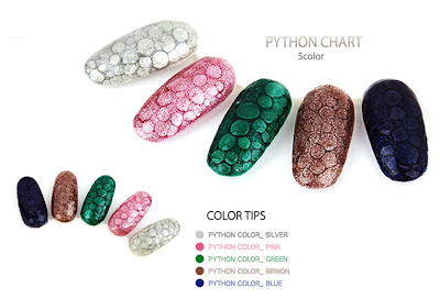 Python gel nail art