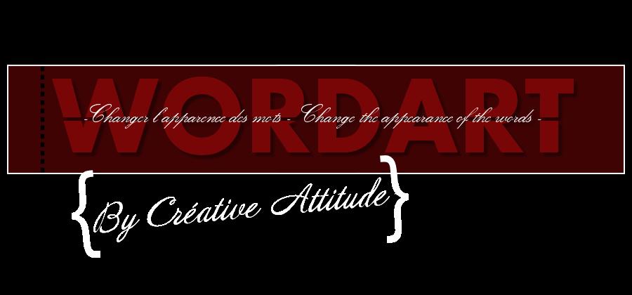 Créative Attitude Wordart